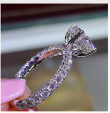 Cubic Zirconia round gold plated fashion tester fake engagement wedding ring