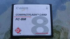 Canon Genuine 8MB FC-8M CF Compact Flash Camera Memory Card
