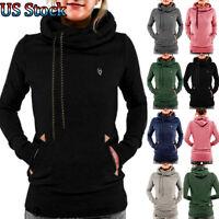 Women Winter Hooded Hoodie Casual Long Sleeve Sweatshirt Pullover Jumper Tops US