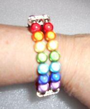 Miracle Bead Double Row Chakra Bracelet - Handmade