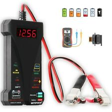MOTOPOWER MP0514A 12V Digital Car Battery Tester Voltmeter and Charging Syste...