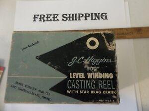 JC Higgins 500 Model 535.28450 Vintage Baitcasting Fishing Reel, NICE CONDITION