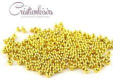 100 perles intercalaire métal couleur doré 3 mm