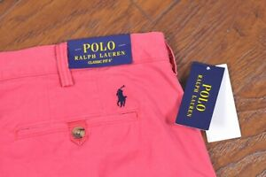 """NWT Polo Ralph Lauren 6"""" Classic Fit Chino Shorts Nantucket Red Men's 40"""