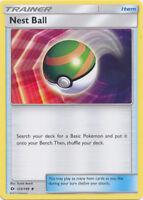 4x Pokemon TCG Sun & Moon Base Nest Ball 123/149 Uncommon Trainer Card