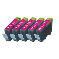 5 MAGENTA Premium Ink + Chip for Canon Series CLI-221 iP4600 iP4700 MP560 MP620