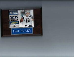TOM BRADY PLAQUE NEW ENGLAND PATRIOTS FOOTBALL NFL  C3