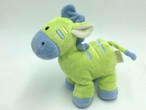 Just One year Green Blue Plush Giraffe Baby Rattle Toy Stripe Soft Carters