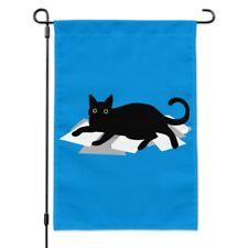 Green Eyes Black Cat New Small Garden Yard Flag Decor Events Gifts Fun