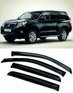 For Toyota Land Cruiser Prado 150 Window Visors Sun Rain Guard Vent Deflectors