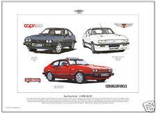 FORD CAPRI MK3 - A3 size Fine Art Print - 280 Brooklands Tickford 2.8T Injection