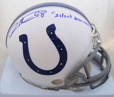 "Robert Mathis Signed Indianapolis Colts ""Silent Assassin"" Mini Helmet JSA"