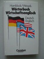 Wörterbuch Wirtschaftsenglisch Deutsch Englisch 1. Auflage 1991