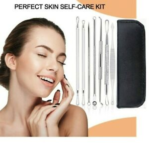 Blackhead Remover Tool Kit Spot Acne Pimple Popper Comedone Blemish Extractor