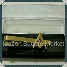 Freemason Masonic Tie Bar in Gold Tone