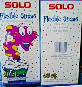 solo 40 ct flexible Straws lot sale 18 pk for $17.99