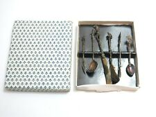 SET OF VINTAGE FIGURAL SILVER PLATED FLATWARE FROM ITALY SPECIALTY PIECES