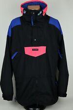 Vintage Columbia Sportswear Men XL Anorak Side Zip Black Nylon Winter Ski Jacket