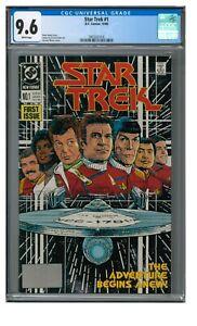 Star Trek #1 (1989) Key 1st Issue DC Comics CGC 9.6 LK969