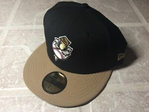 New Era 59Fifty MiLB Omaha Golden Spikes Retro fitted hat Black Gold 7 1/2