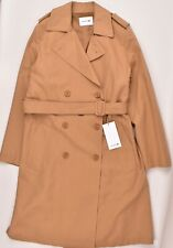 LACOSTE Long Line Double Breasted Coat, Natural Tan, size UK 14 / FR 42