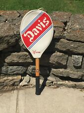 Vintage Tad Davis Professional Wooden Tennis Racquet Racket Victor Cover Decor