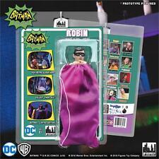 BATMAN CLASSIC TV SERIES 2 HEROES IN PERIL; ROBIN  8 INCH FIGURE PURPLE BAG