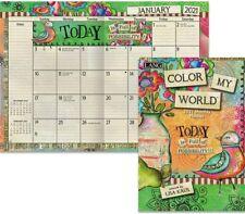 COLOR MY WORLD - 2021 MONTHLY PLANNER CALENDAR - BRAND NEW - LANG ART 12121
