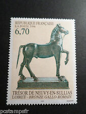 FRANCE 1996 timbre 3014, BRONZE GALLO-ROMAIN PAINTING, ART, neuf**, MNH STAMP
