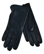 Dents Ladies Imitation Peccary Leather Gloves Navy Size 7 6h 8 7h