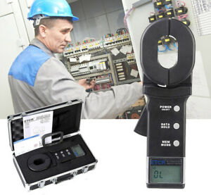 Digital Clamp On Ground Earth Resistance Tester Clamp Meter 0.010 to 200Ω