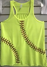 Fastpitch Monogram Flowy Bella Tank Top Softball Stitches Glitter Number
