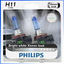 Philips Genuine H11 12362CVB2 CrystalVision Ultra Upgrade Headlight Bulb, 2 Pack