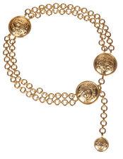 Versace Gold Tone Medusa Chain Belt