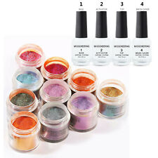 Dipping System Nail Art Kit 10 Colors/Dip Powder&4 Bottles/Liquid Gel
