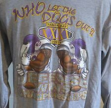 2001 Baltimore Ravens Who Let the Dogs Out Long Sleeve Tshirt Ray Lewis XL