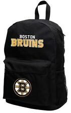 Boston Bruins NHL Sprinter Black Backpack School Book Bag Travel Gym Case