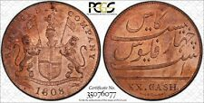 British Indian 1808 XX.Cash PCGS Almost Uncirculated Details lot 0220