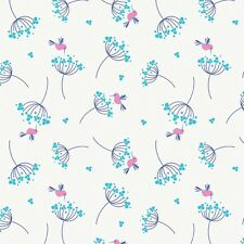 Wildflower Meadow Blue Birds by Melly & Me for Riley Blake, 1/2 yd cotton fabric