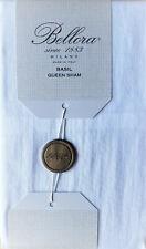 Bellora Milano Italy White Queen Pillow Sham 100% Linen Msrp $99