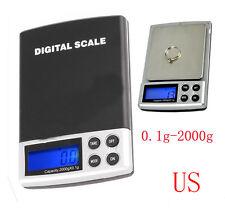 2000g x 0.1g 2kg Electronic Digital Balance Weight Scale