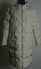 MAX MARA WEEKEND DOWN PUFFA COAT JACKET PARKA WHITE KNEE IVORY LENGHT ZIP UK12 L