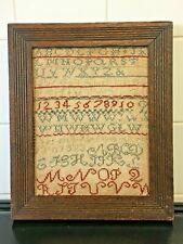Small Antique 19th Century Sampler Oak Framed