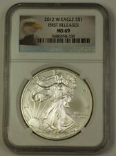 2012-W American Silver Eagle ASE $1 Coin First Releases NGC MS-69 A
