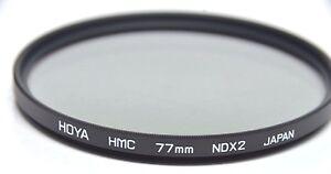 Hoya Multi-Coated HMC 77mm ND2 NDX2 ND-2 Lens Filter Neutral Density ND 2 77 mm