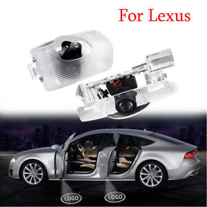 2X Door Courtesy Laser Projector Shadow Light Puddle Logo For Lexus GS IS LX LS