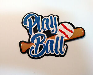Play Ball Title paper piecing Premade Scrapbook Pages