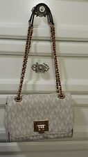 Authentic Michael Kors Vivianne Signature Vanilla PVC Bag Handbag Purse NWT MK