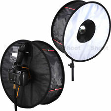 "Upgraded 18""Easyfold Ring Speedlite Flash Softbox Diffuser Reflector Macro Shoot"
