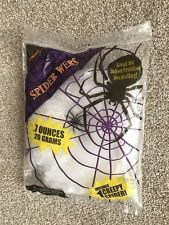 Halloween Giant Spider Web With Black Spider 7 Ozs (20 Grams) Creepy Party Fun